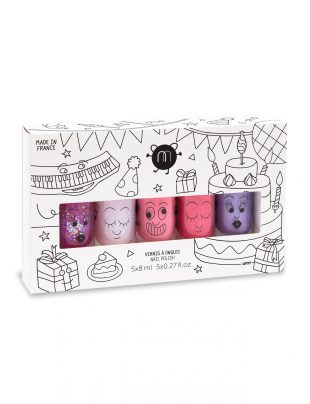Nailmatic Kids - Nagellak op waterbasis – Party (Set of 5)