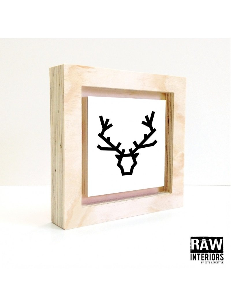 Dots Lifestyle | Deer Line White - Raw Frame