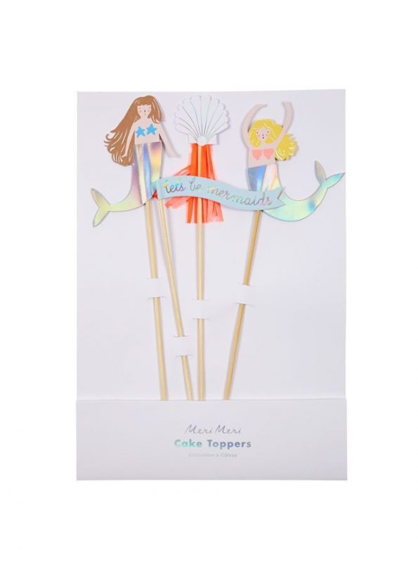meri meri mermaid cake toppers