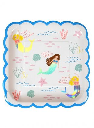 meri meri mermaid plate