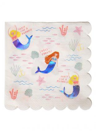 meri meri mermaid servietten