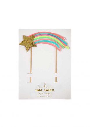 meri meri rainbow cake toppers