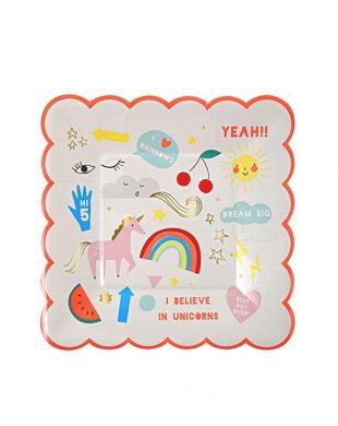 meri meri unicorn plate