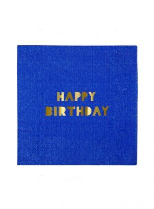merimeri happy birthday napkin