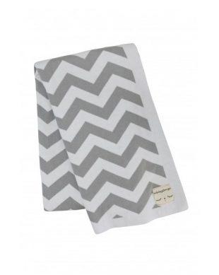 miniroom zigzag deken grijs