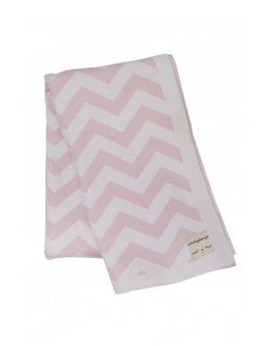 miniroom zigzag deken roze