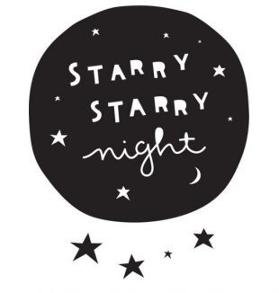 starry starry night muursticker